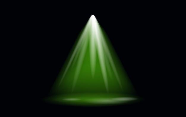 Refletor de efeito de luz vetorial com fundo transparente