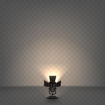 Refletor realista com luz quente
