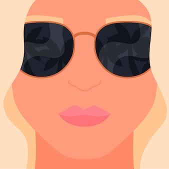 Reflexão na ilustração de verão óculos de sol