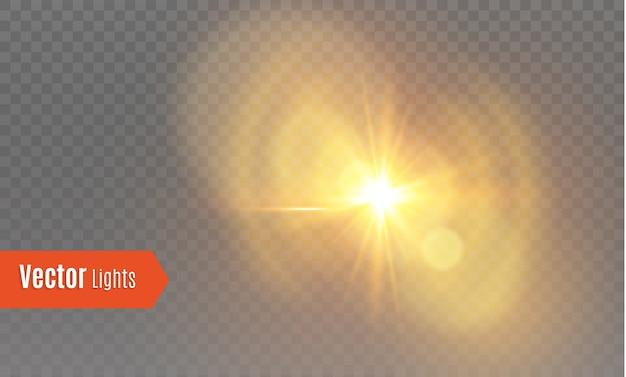Reflexo de lente de sol dourado abstrato