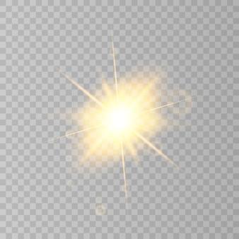 Reflexo do sol isolado em fundo transparente