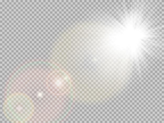 Reflexo especial da luz solar.
