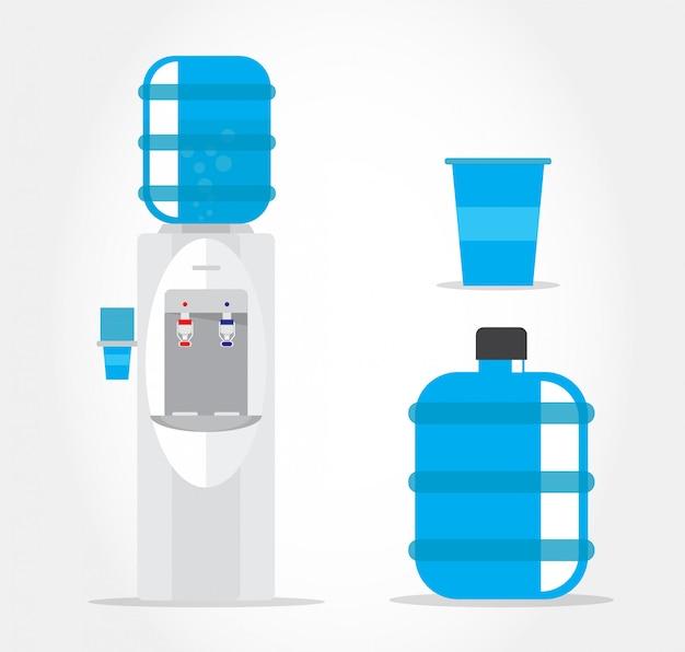 Refrigerador de água.