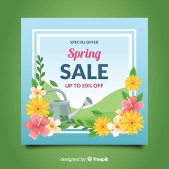 Regador, primavera, venda, fundo