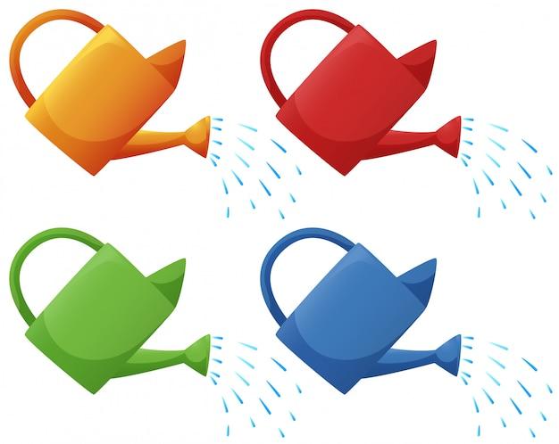 Regadores em quatro cores
