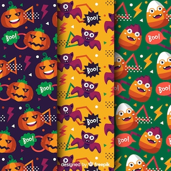 Reggae engraçado cores e elementos no estilo halloween