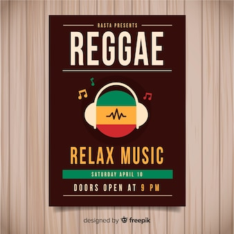 Reggae party flyer