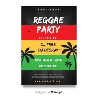 Reggae party night flyer
