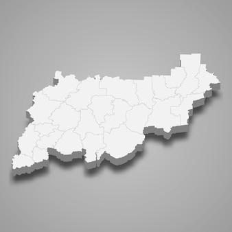 Região do mapa 3d da rússia