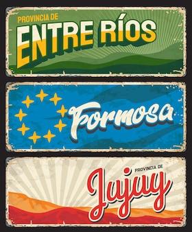 Regiões formosa, entre rios e jujuy, províncias argentinas