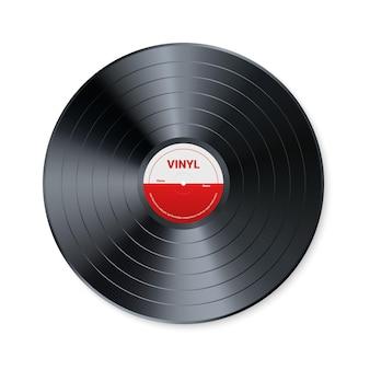 Registro de música de vinil. projeto de disco de áudio retrô. disco de gramofone vintage realista