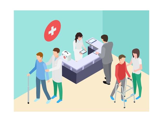 Registro hospitalar isométrico