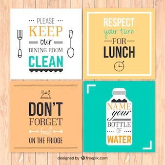 Regras de cozinha posters
