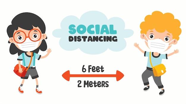 Regras de distância social para crianças