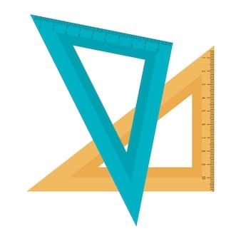 Regras de fornecimento de educação isolado ícone vector ilustração design