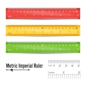 Régua de medição da escola