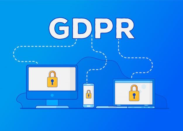 Regulamento geral de proteção de dados do gdpr. proteção de dados pessoais.