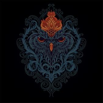 Rei coruja com ornamento