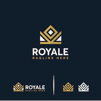 Rei da coroa de luxo, logotipo da coroa real