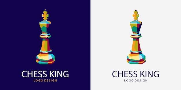 Rei do xadrez logotipo