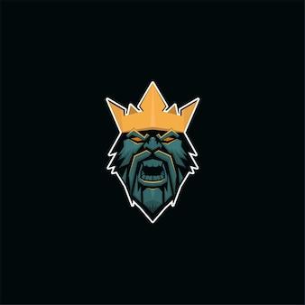 Rei e esporte estilo de logotipo