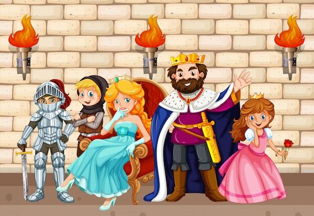 Rei e outros personagens de contos de fada