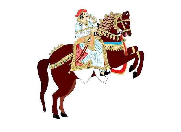 Rei indiano, cavalo equitação