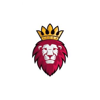 Rei leão arte vetorial, ícone, gráficos & ilustração