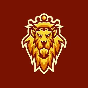Rei leão cabeça logo