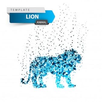 Rei leão - ilustração de gelo de brilho.