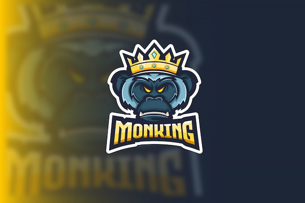 Rei macaco esport logo