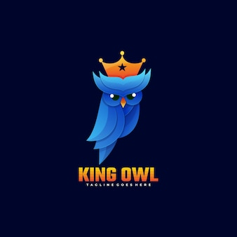 Rei rei coruja estilo gradiente.