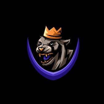 Rei, tigre, logotipo, ilustração