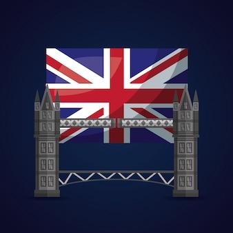 Reino unido coloca a bandeira