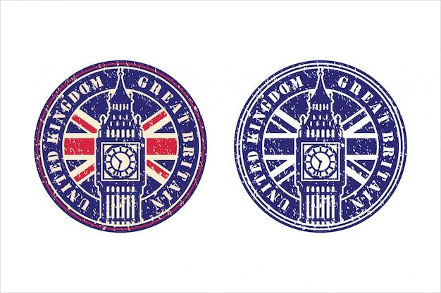 Reino unido grã-bretanha design logotipo