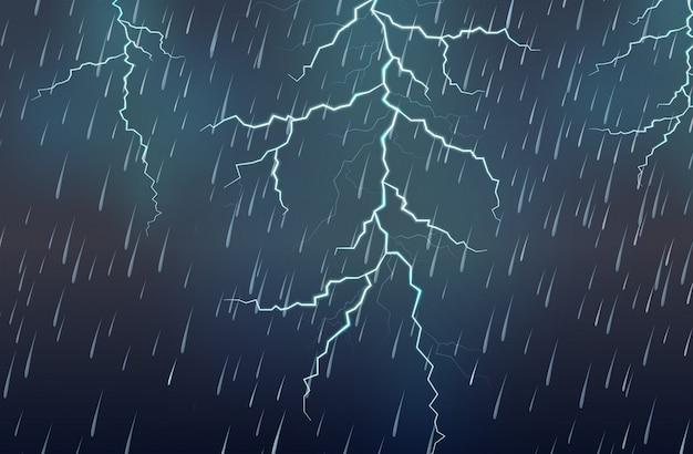 Relâmpago, chuva, chuva, tempestade