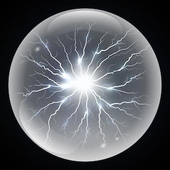 Relâmpago de bola ou tempestade de eletricidade.