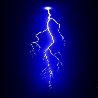 Relâmpago. descarga elétrica. ilustração.