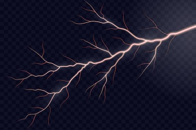 Relâmpago elétrico da tempestade do trovão do relâmpago.