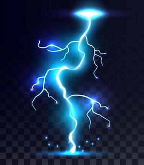 Relâmpagos, raios de trovão, tempestade, faíscas mágicas.