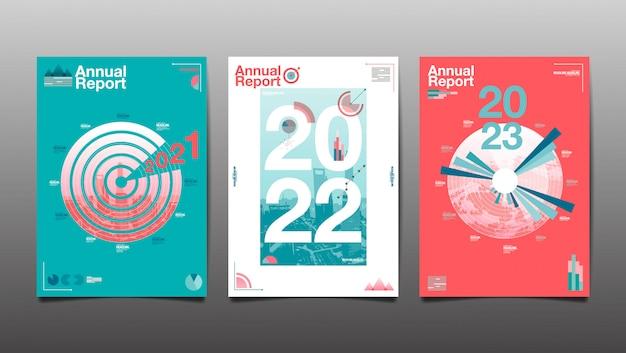 Relatório anual 2020,2021,2022,2023, futuro, negócios, design de layout de modelo, livro de capa. ilustração, apresentação fundo plano abstrato.