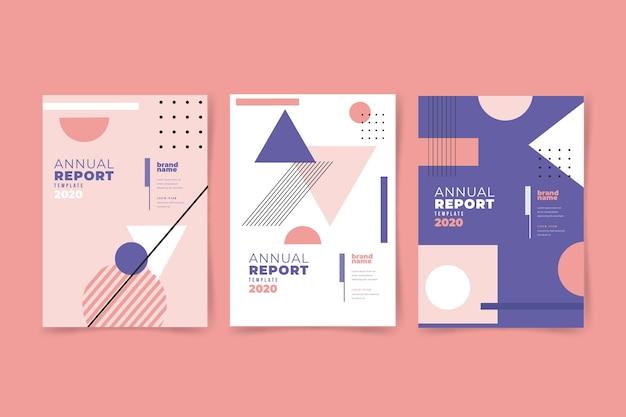 Relatório anual 2020 com efeito memphis