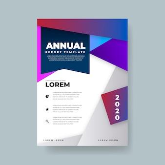 Relatório anual abstrato colorido do modelo