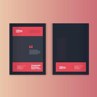 Relatório anual, catálogo, design de capa de brochura