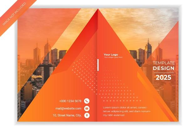 Relatório anual corporativo, folheto, modelo de design de capa de livro