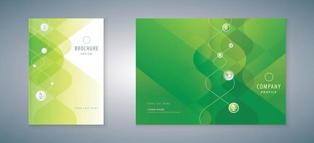 Relatório anual de design de capa, folhetos de ciência, folheto.