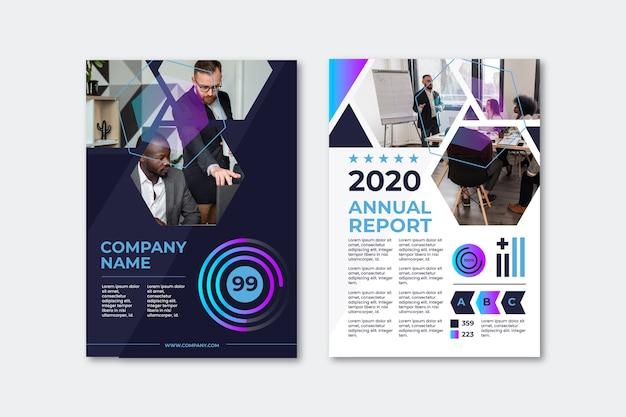 Relatório anual de modelo de panfleto de apresentação de negócios