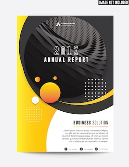 Relatório anual de negócio corporativo limpo plano