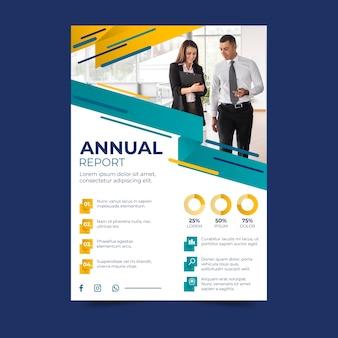 Relatório anual de negócios com foto