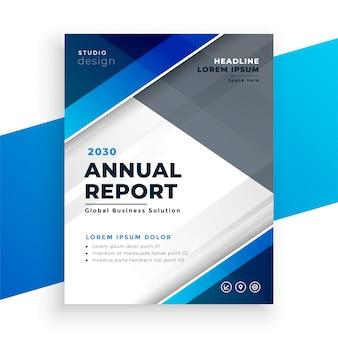 Relatório anual de negócios modernos azuis abstratos